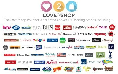 £200 Of Love To Shop Vouchers