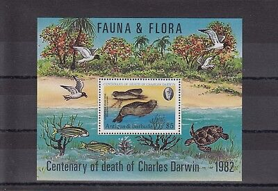 Timbre Stamp Bloc Ile Antigua Y&t#63 Phoque Seal  Neuf**/mnh-Mint 1982 ~A67