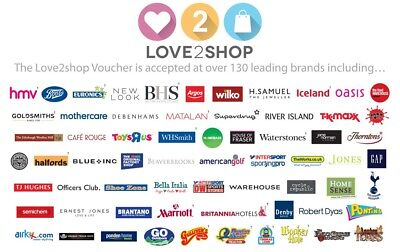 £150 Of Love To Shop Vouchers