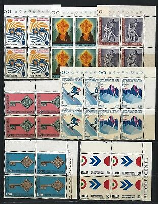 Italy 1967-1970 Selection of blocks of 4 Mint Never Hinged