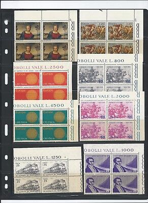 Italy 1970 Selection of blocks of 4 Mint Never Hinged
