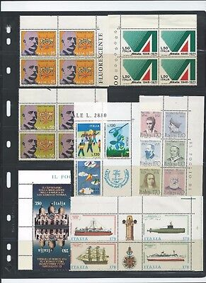 Italy 1972-94 Selection of blocks, se-tenant, tete-beche etc. Mint Never Hinged