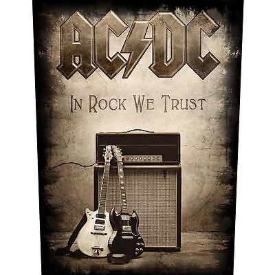 AC/DC in rock we trust Back Patch XLG free worldwide shipping