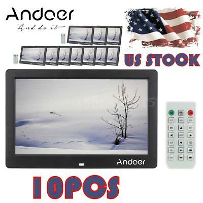 "10PCS 10.1"" LCD HD Digital Photo Frame Clock MP3 MP4 Player Remote Contorl L8H0"