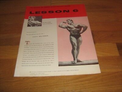 Joe Weider Bodybuilding Lesson #6 Champion Muscle Course Jack Delinger 1957 red