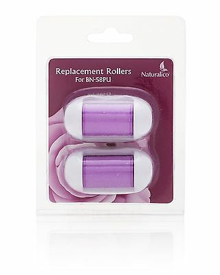 Pack of 2 (Purple) Replacement Refill Roller Heads - Compatible with Naturalico