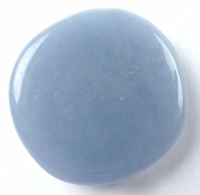 ANGELITE Flat Stone (Small) - Expanded Awareness, Serenity, Angelic Contact