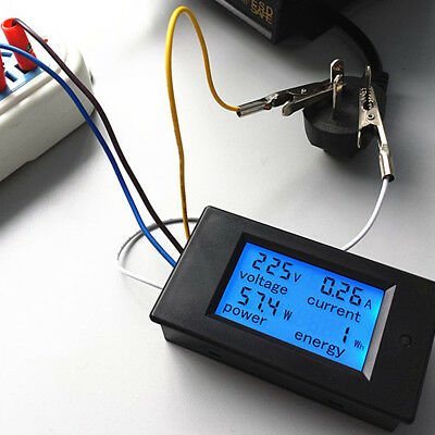 Durable AC 80-260V LCD Digital 20A Volt Watt Power Meter Ammeter Voltmeter