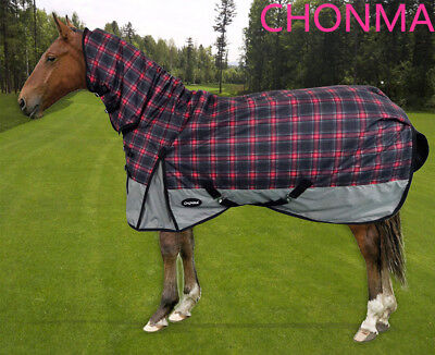 CHONMA 6'0'' 600D 250G Winter Waterproof BreathableTurnout Horse Rug Combo--A30b