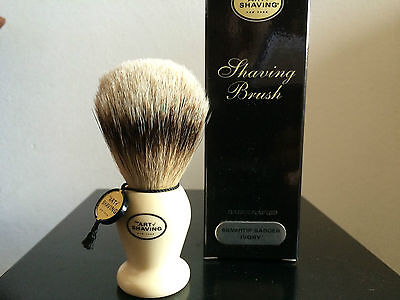 The Art Of Shaving  Silvertip Badger Ivory Pennello Barba Puro Tasso Handcrafted