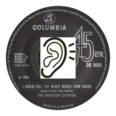 Shotgun Express - I Could Feel The Whole World / Curtains - Great Mod Two Sider