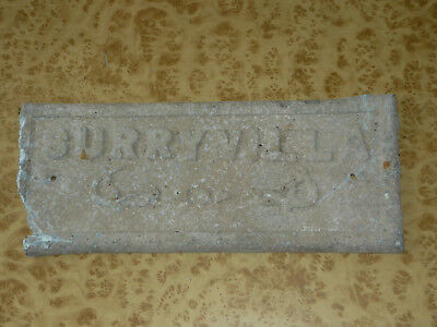 Vintage Metal sign SURRYVILLA Australian English House Plaque 20s 30s