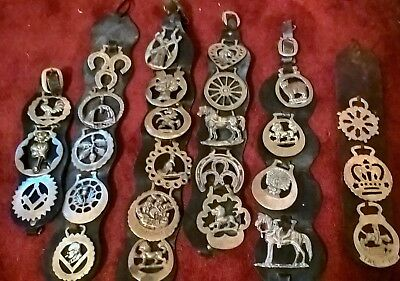 26 Horse Brasses mounted