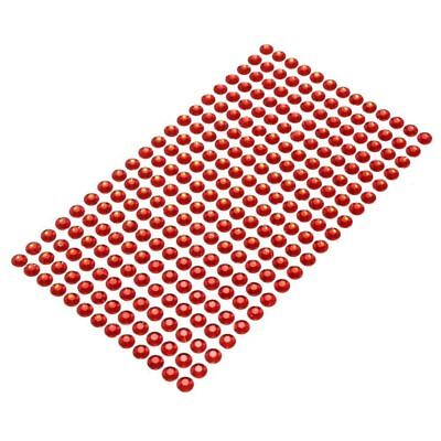900 Pcs Red Self Adhesive Stick On Diamonte Clear Gems Crystal Shiny Rhinestone