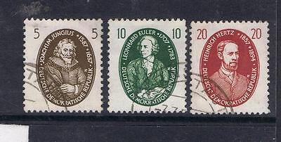 Germany East Germany DDR GDR 1957 Scientists SG E322-24, Mi574-76 Used