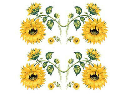 SunFLoWeR SWaGs /  BorDeRs ShaBby WaTerSLiDe DeCALs