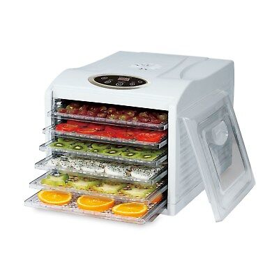 GRADE A1 - Electriq Pro Food Dehydrator - With 6 Shelves and 4 77419635/1/EDFD08