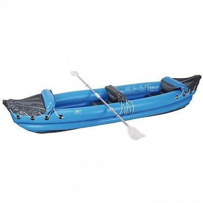 XQ Max Inflatable Canoe with Paddles Seats Up to Two