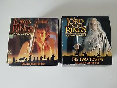 lotr lord of the rings trading card games deluxe starter sets