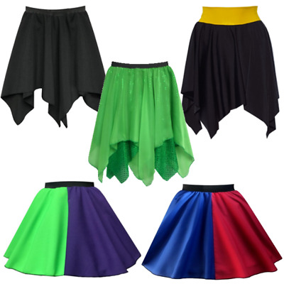 Girls HARLEY skirt Costume POISON JOKE Halloween FANCY DRESS Villain Superhero
