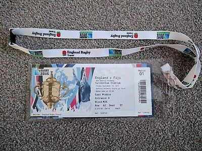 Rugby World Cup 2015 opening game ticket and lanyard