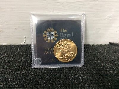 1965 Full Gold sovereign - with certificate of authenticity