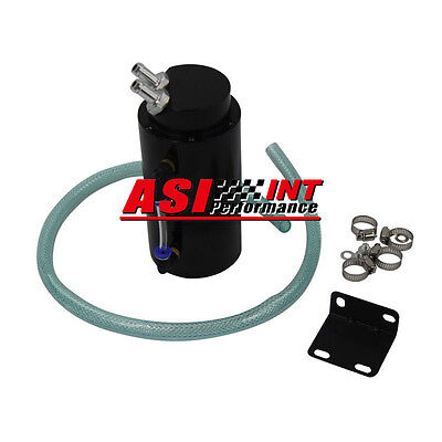 Engine Oil Catch Tank Can + Hose Blk For Toyota Mazda Nissan Mitsubishi Uk Stock