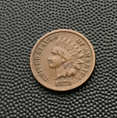 1879 Indian head US one cent coin