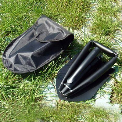 Carbon Steel Three Folding Spade Shovel Camping Portable Survival Tool VC