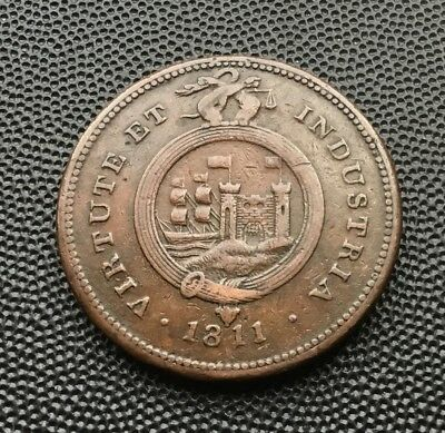 1811 penny token Bristol and South Wales. 18 grams.
