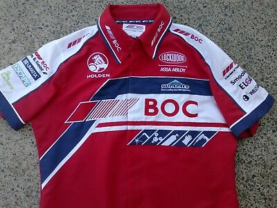 Holden - BOC - fully sponsored supercars dress shirt - AS NEW