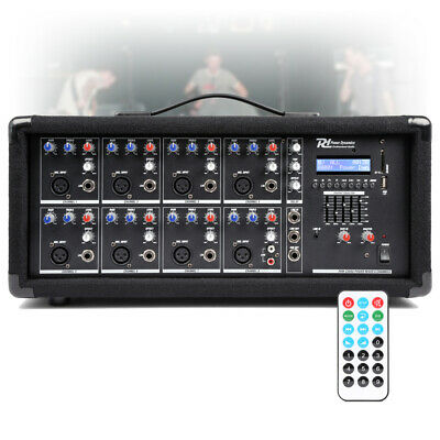 8 Channel Live Mixer Amplifier, Bluetooth Live Performance Stage Band PA 800w