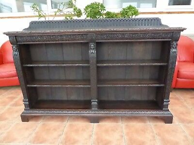 Large Victorian Country Oak Carved  Scottish Bookcase  Free Shipping  To England