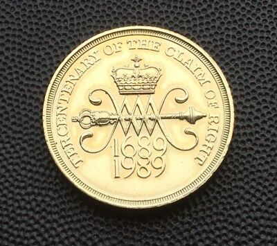 Scarce 1989 claim of rights £2 coin