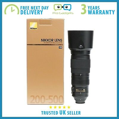 New Nikon AF-S NIKKOR 200-500mm f/5.6E ED VR Lens - 3 Year Warranty