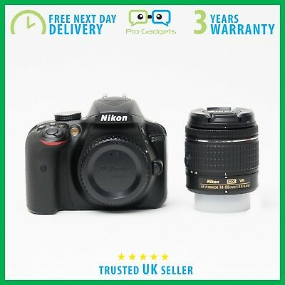 New Nikon D3400 DSLR Camera AF-P DX 18-55mm VR Lens (Black)  - 3 Year Warranty