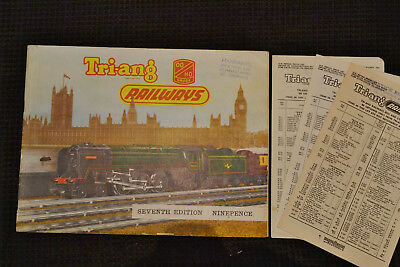 Triang Railways, Seventh Edition Catalogue &  3 Price Lists, 1961 Good Condition