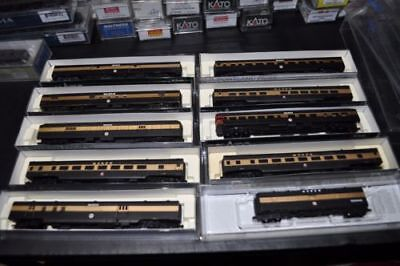 RARE Monon KATO Concor Rivarossi N Gauge Scale 9 car passenger collection set