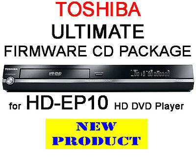 Region Free & V4.0 Firmware Cd Pack For Toshiba Hd-Ep10 Hd Dvd Player