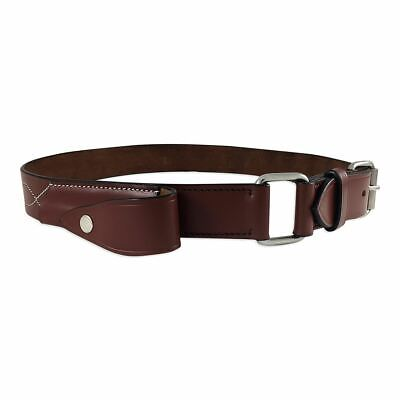Stockman's Knife Belt Genuine Leather with Knife Pouch Bushman's Belt Brown New