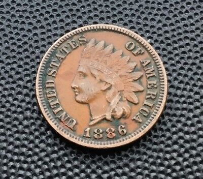 1886 Indian Head US one cent coin