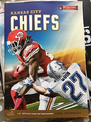 Kansas City Chiefs Vs Detroit Lions Nfl Wembley 2015 Programme Program