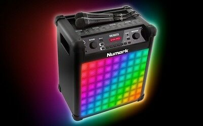 Numark Sing Master Karaoke System inc Light Show and Microphones Pitch tune + FX