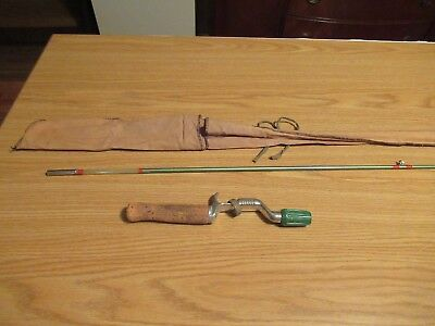 Vintage Rare Early GEP 2PC CASTING FISHING ROD POLE 5FT BAIT CASTER FISH