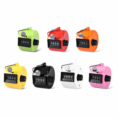 4 Digit ABS Plastic Mechanical Hand Tally Counter Number Manual Counting Clicker