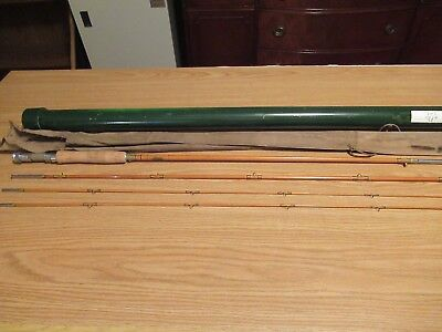 Vintage Shakespeare Bamboo Fly Fishing Rod 1362-8 1/2'Ft. Honor Built 3 Pc Pole