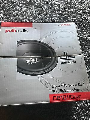 "Polk Audio Dual 4ohm Voice Coil Car Subwoofer 10"" Sub"