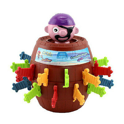Random Kid Child Funny Game Pop Up Gadget Jokes Tricky Pirate Barrel Playing Toy