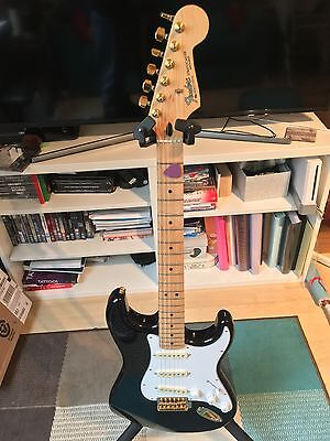 Fender Mexican Stratocaster with Noiseless Pick Ups and Gold Hardware Blackie