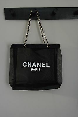 New without Tag CHANEL Mesh Shopping Beach Tote Bag